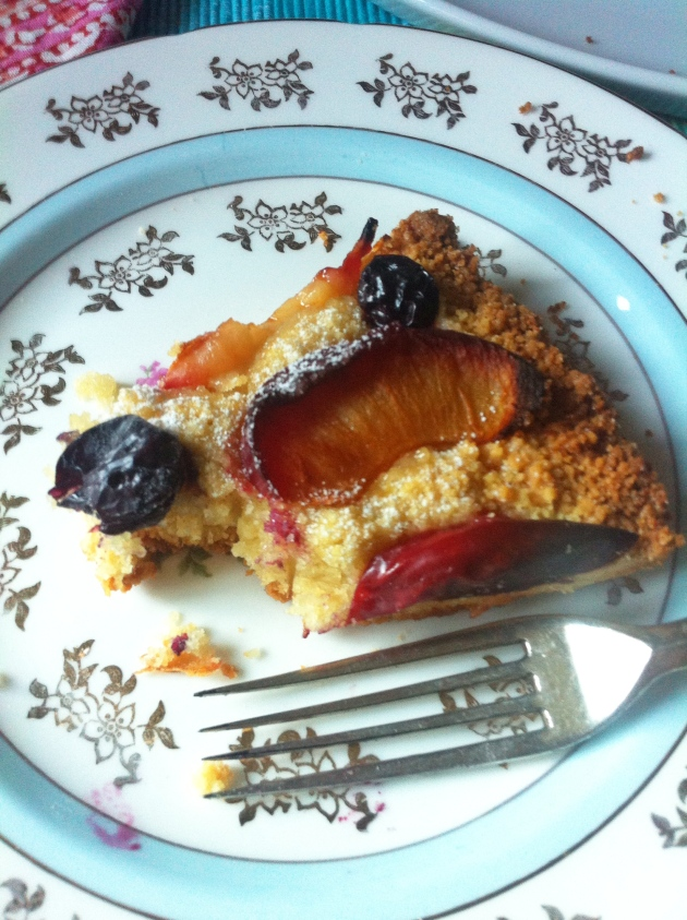Rustic Plum and Blueberry Tart