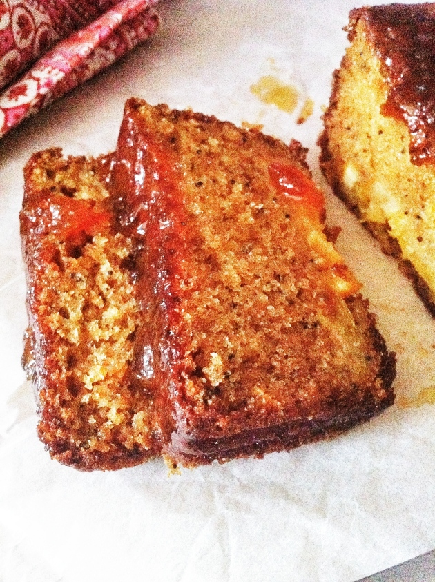 Marmalade and Sour Cream Loaf Cakes with Poppy Seeds