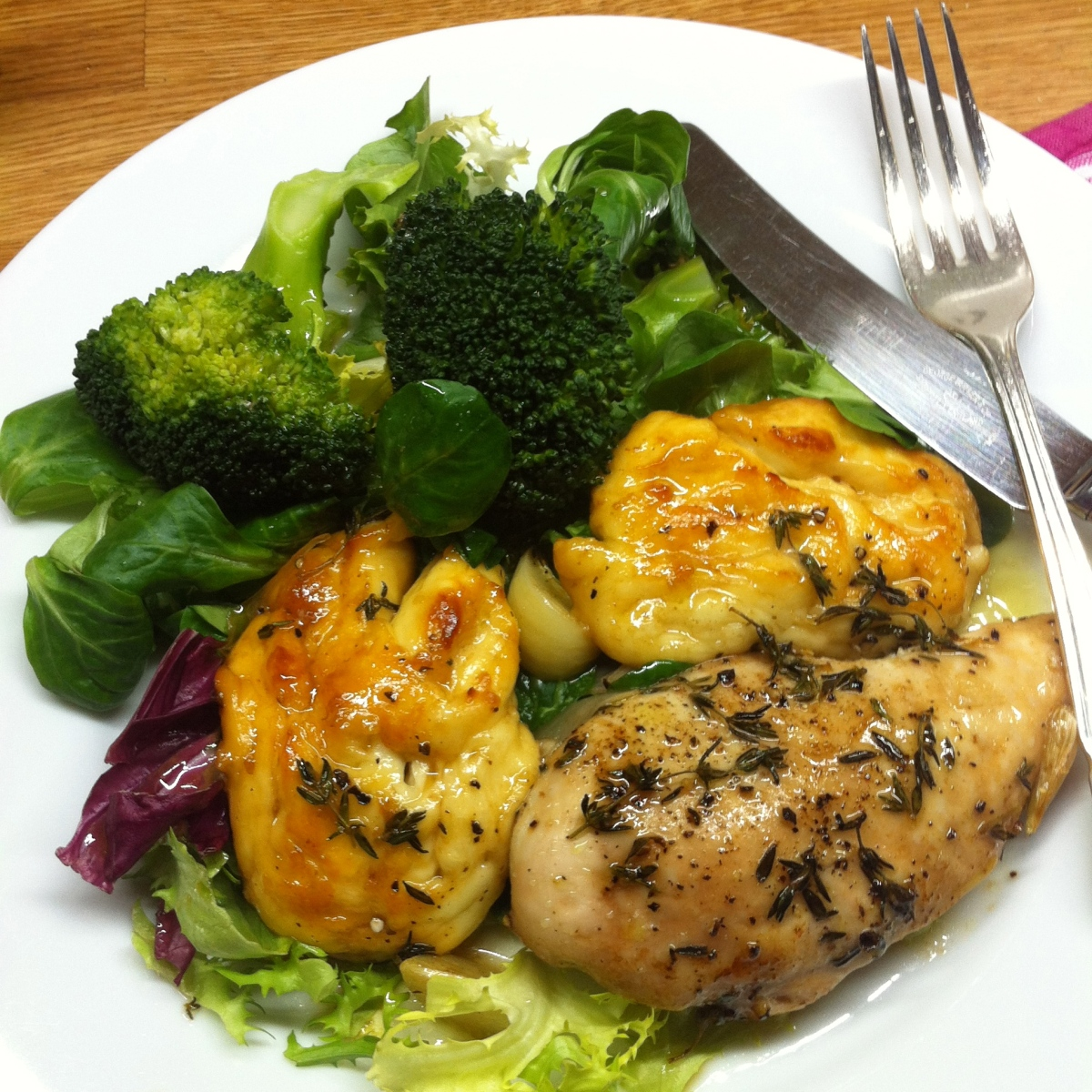 Chicken and Halloumi with Honey and Thyme