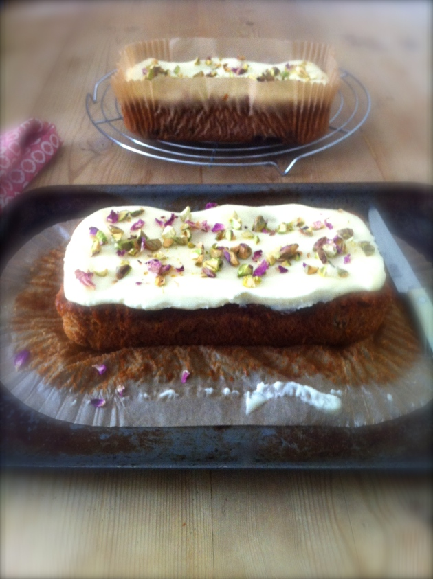 Masala Chai Banana Bread with Coconut Cream Cheese and Cardamom Icing | Selma's Table